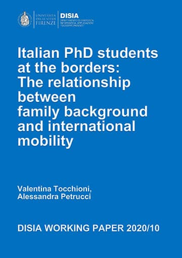 Italian PhD students at the borders: The relationship betweenfamili background and international mobility