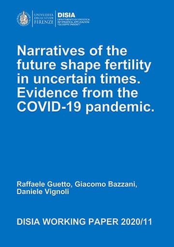 Narratives of the future shape fertility in uncertain times. Evidence from the COVID-19 pandemic effects