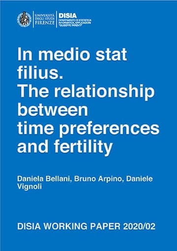 In medio stat filius. The relationship between time preferences and fertility