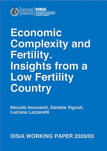 Economic Complexity and Fertility. Insights from a Low Fertility Country