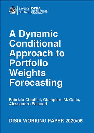 A Dynamic Conditional Approach to Portfolio Weights Forecasting