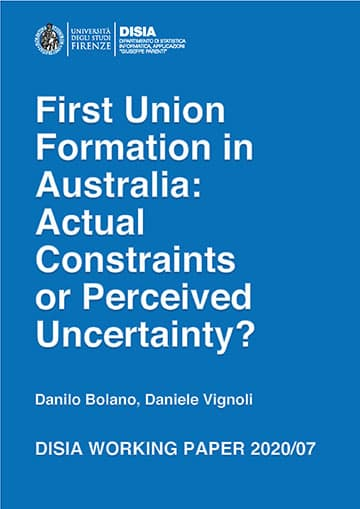 First Union Formation in Australia: Actual Constraints or Perceived Uncertainty?