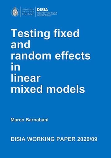 Texting Fixed and random effects in linear mixed models